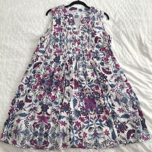 Old Navy purple and blue print swing dress L